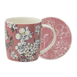 May Gibbs Mug & Coaster Set Flower Babies Pink 320ml