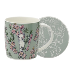 May Gibbs Mug & Coaster Set Flower Babies Light Green 320ml