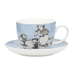 Blinky Bill Jumbo Cup & Saucer Blue 430ml