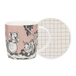 Blinky Bill Mug & Coaster Set Coral 320ml
