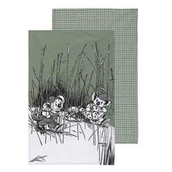 Blinky Bill Tea Towels Green Set of 2