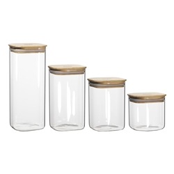 Pantry Square Canisters Set of 4