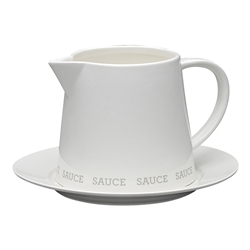 Abode Gravy Boat 465ml and Plate
