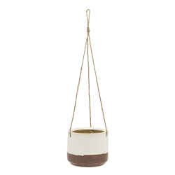 North Hanging Planter Cinnamon 14cm