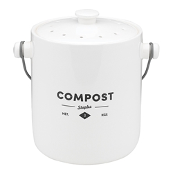 Staples Foundry Compost Bin with Handle 23 x 18 x 23cm