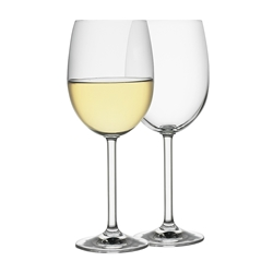 Classic Set of 6 White Wine Glasses 350ml