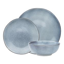 Rustic 12 Piece Dinner Set Denim