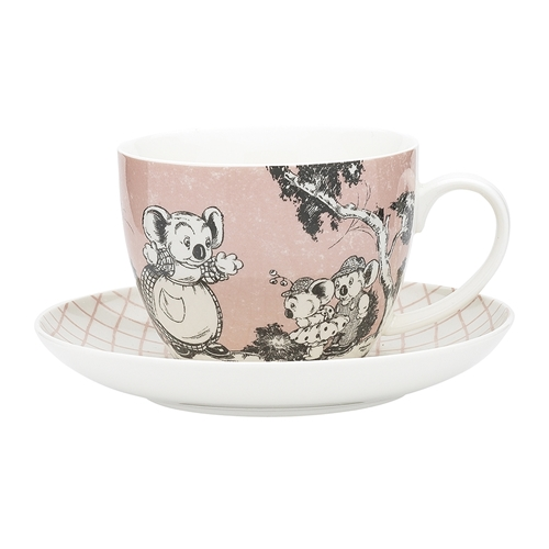 Blinky Bill Jumbo Cup & Saucer Coral 430ml