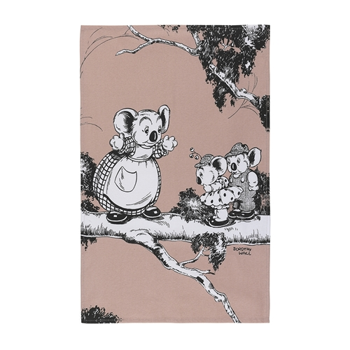 Blinky Bill Tea Towels Coral Set of 2