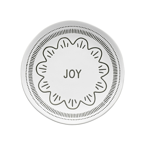 Tidings Side Plate Joy 20.5cm