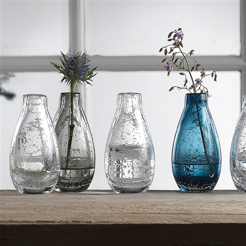 Halo Droplet Icicle Vases Set of 3 5.5cm x 9.5cm H