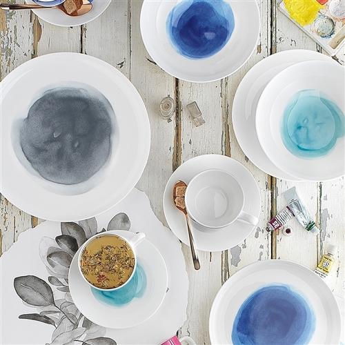 NEW Ecology Watercolour Ocean Dinner Set 12pce